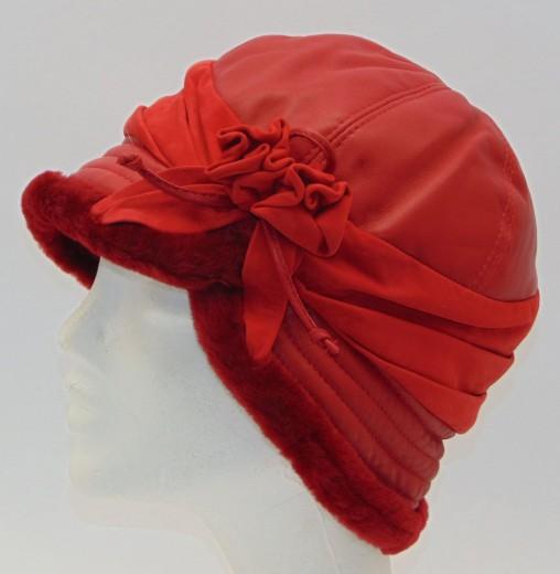 VÝPRODEJ - Kožešinová čepice dámská. 0k18z roza cervena.jpg červená 5c168622a6