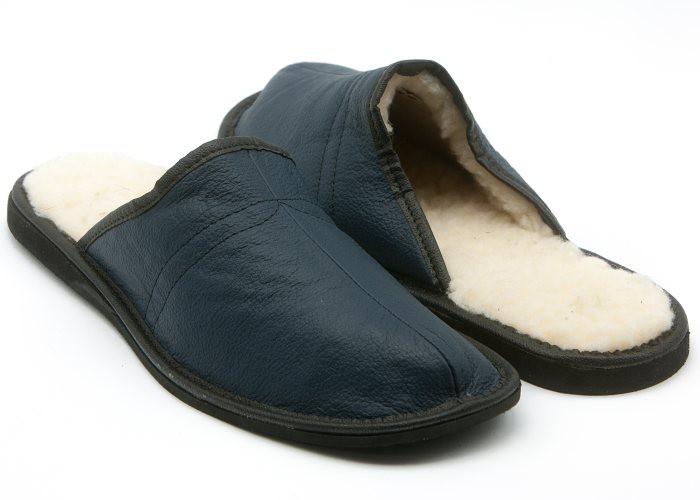 0797d6a6b45 Dřeváky    Pánské kožené pantofle