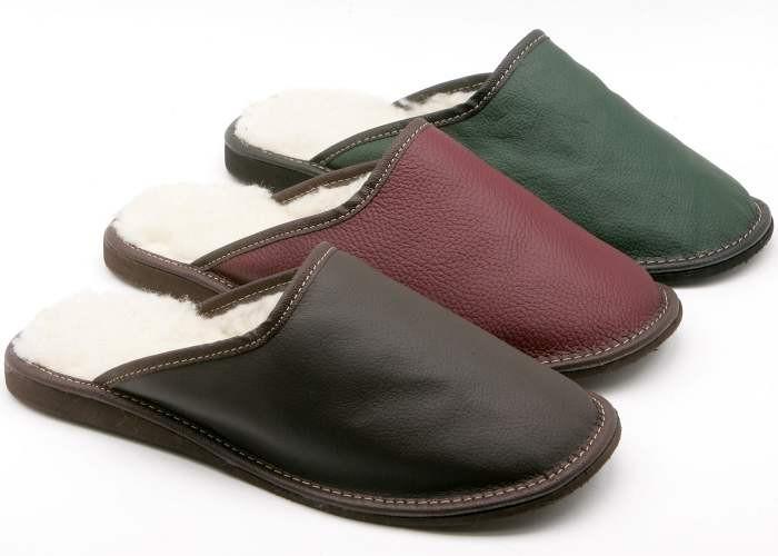 Pánské kožené pantofle