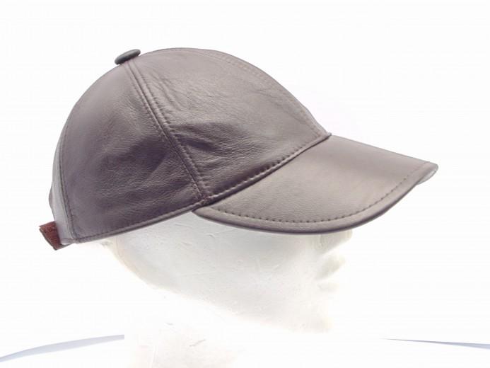 VÝPRODEJ - Kožená čepice pánská. dsc00220.jpg hnědá 7979f20811