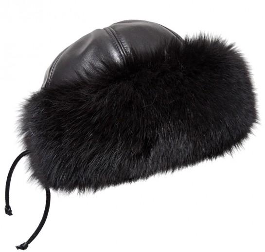 Kožešinová čepice. f01 toczek fox.jpg černá 878112cf59