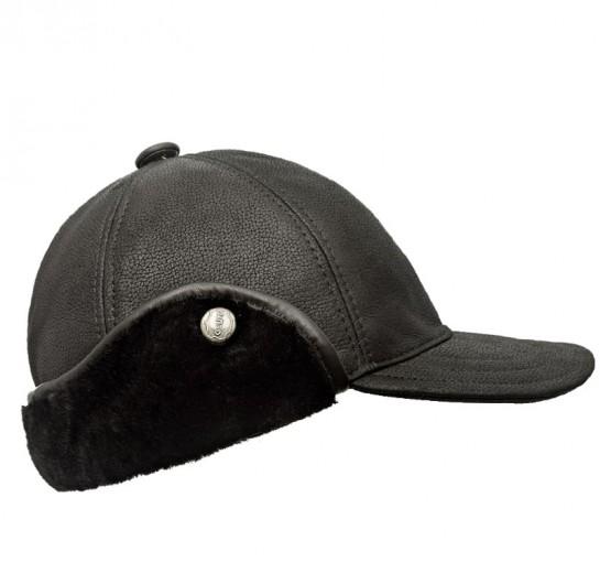 VÝPRODEJ - Kožešinová čepice pánská černá. m12z dzokejka zima.jpg černá 6188783388