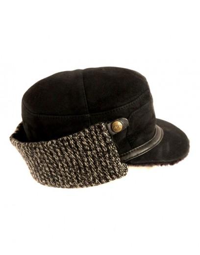 VÝPRODEJ - Kožešinová čepice pánská. skorzana-czapka-wiktor.jpg černá 7e2244095a
