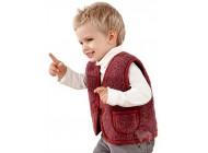 VÝPRODEJ - Dětská vesta jednobarevná