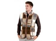 Dámská i pánská vesta s límcem z ovčí vlny